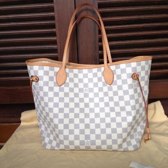 eb692a4131a7 Louis Vuitton Handbags - Louis Vuitton Neverfull damier azur MM